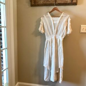 Lovely Sheer White Cotton Antique Lawn Dress